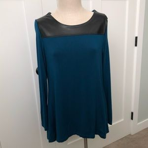 Lysse Leather Modal Top - Large